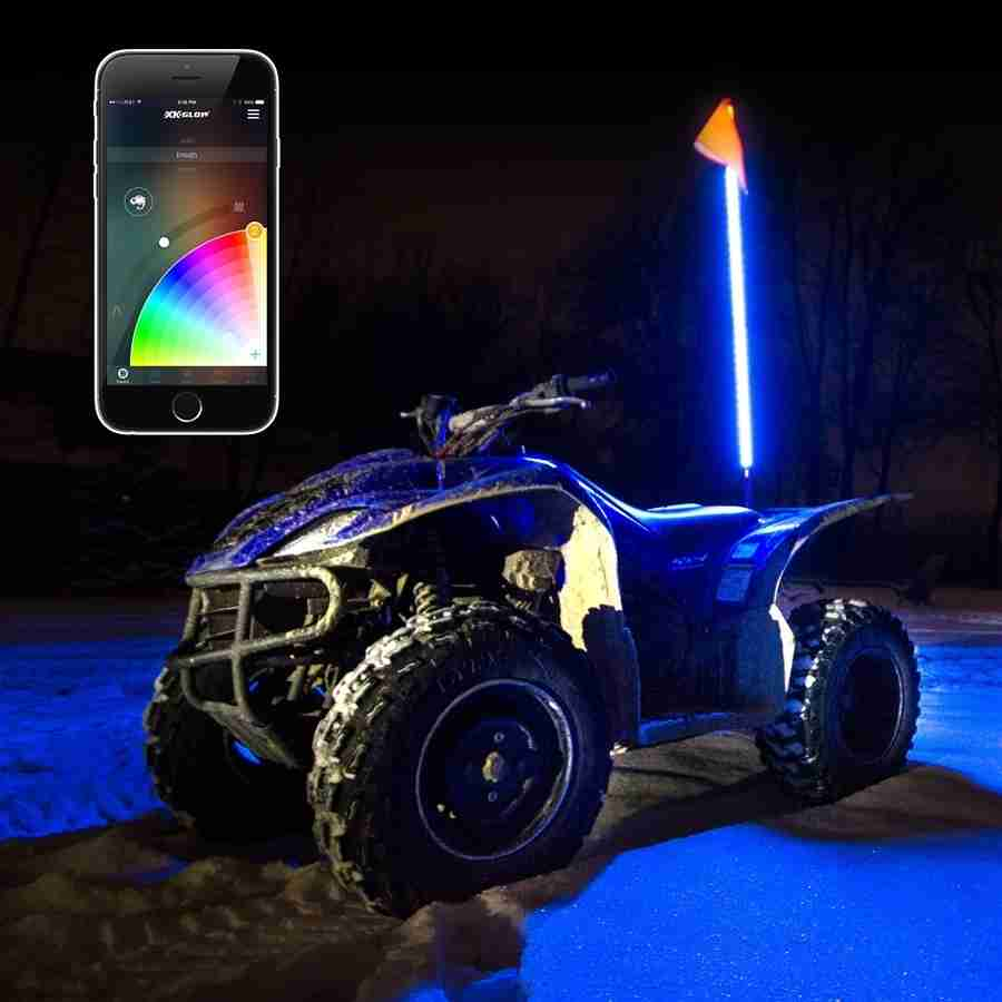1x Whip Xkchrome App Control Led Whip Light Kit For 4x4