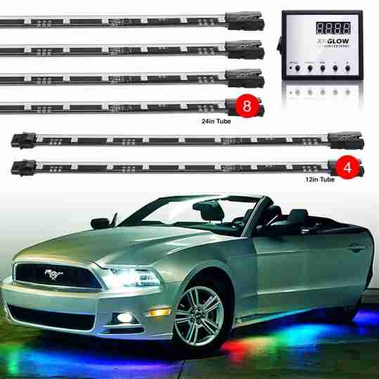 12 pc Interior+Underbody Advanced UFO style 3 Million Color Remote Control LED Light Kit