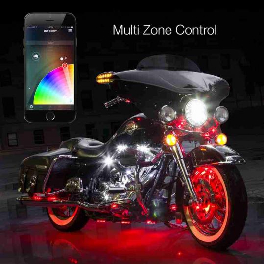 6 Pod 2 Strip Xkchrome Control Motorcycle Led Accent Light Kit