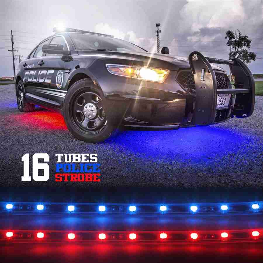 Police Law Enforcement Emergency 16pc Underbody Warning