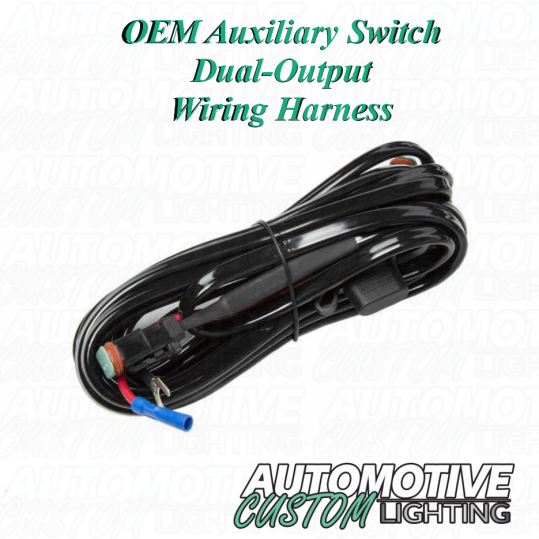 oem auxiliary switch dual-output wiring harness