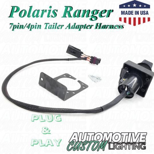 Polaris Ranger 7pin/4pin Trailer Adapter Harness (Light Duty) on