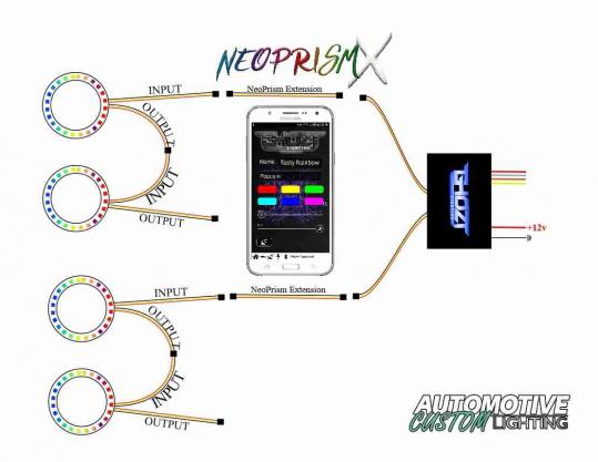 NeoPrismX Quick Wiring Diagram